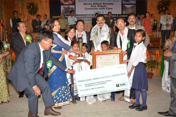 State Green School Awardee (Best PS) - Titribotey PS, East Sikkim
