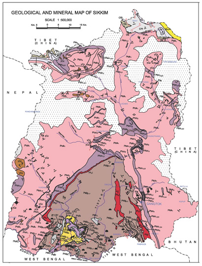 Geological and Mineral Map of Sikkim